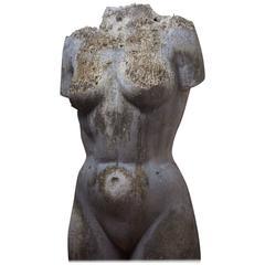 Large Nude Female Torso Sculpture