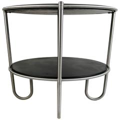 "Classic Warren McArthur ""J"" Leg Art Deco Center Table"
