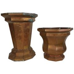 Art Deco Architectural Copper Jardinieres