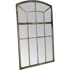 19th Century French Orangerie Wall Mirror in Metal