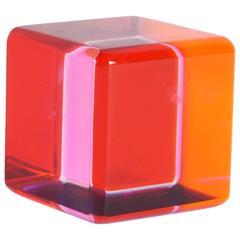 Vasa Mihich Lucite Cube