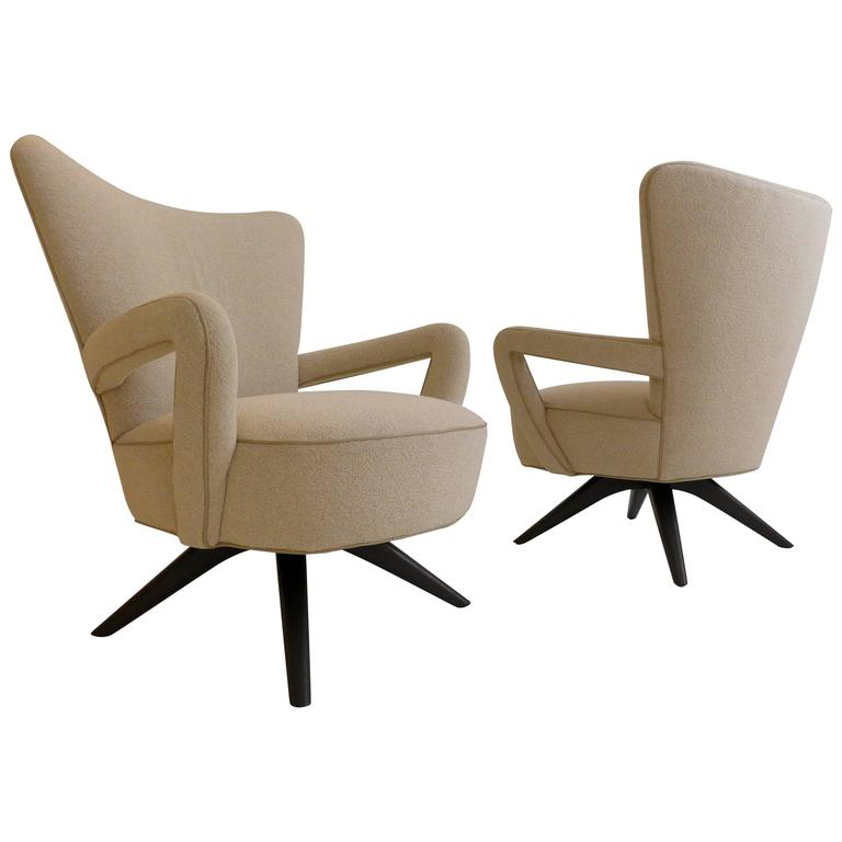 Pair of Armchairs Attributed to Vladimir Kagan