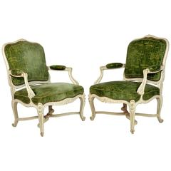 Fine Pair of Louis XV Style Painted Chairs