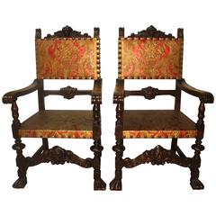 Magnificent Pair of French Armchairs
