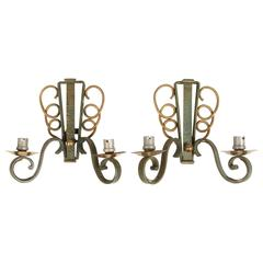 Pair of Art Deco Wall Sconces