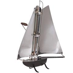 British Machine Age Sailboat Radiant Heater by Bunting Electric, circa 1930s