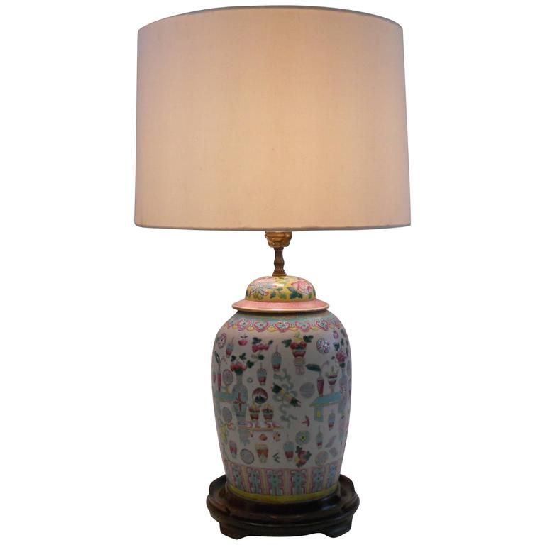Chinese Vase as a Lamp