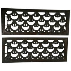 Matched Pair of Art Deco Bronze Grates