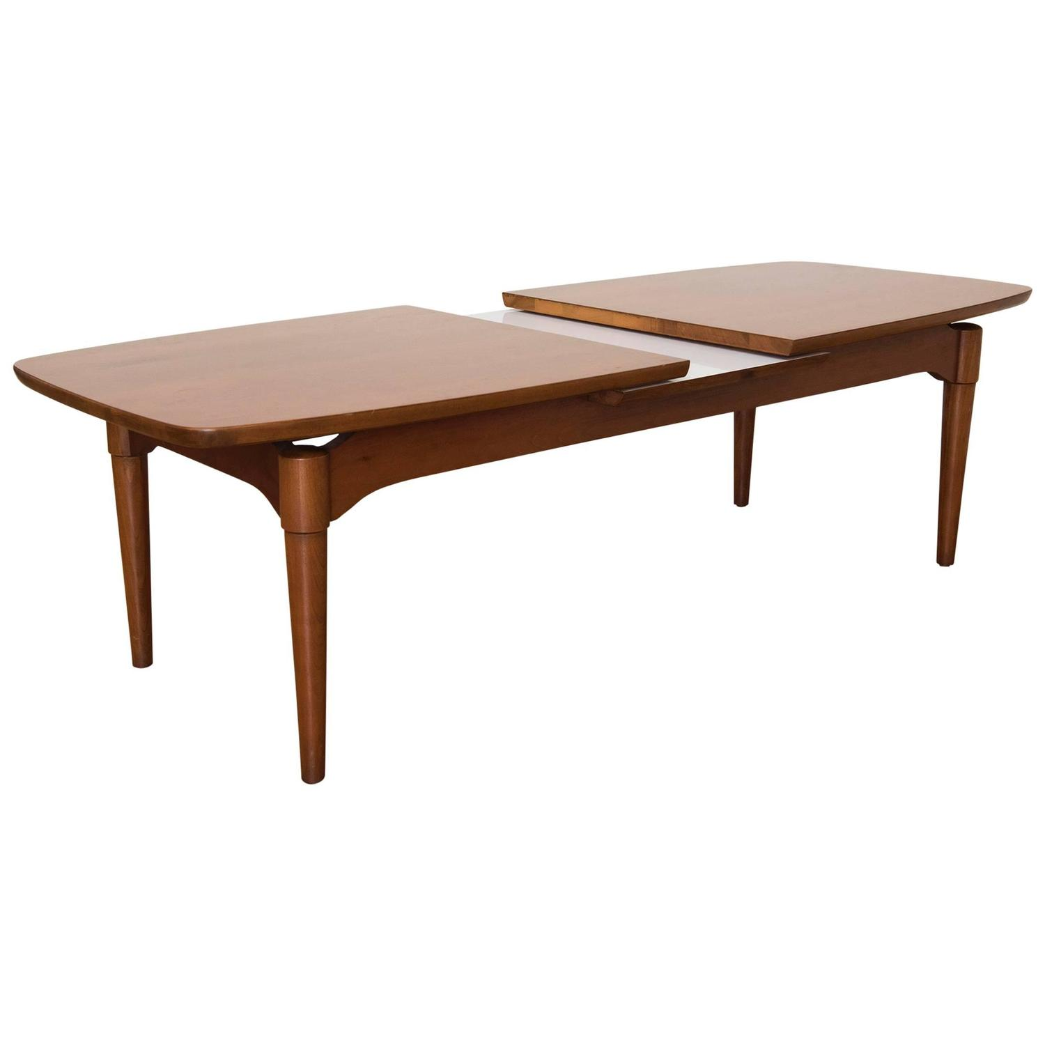 Adjustable Teak Danish Modern Style Surfboard Coffee Table At 1stdibs