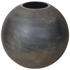 Enormous Cenedese Black Murano Glass Vase