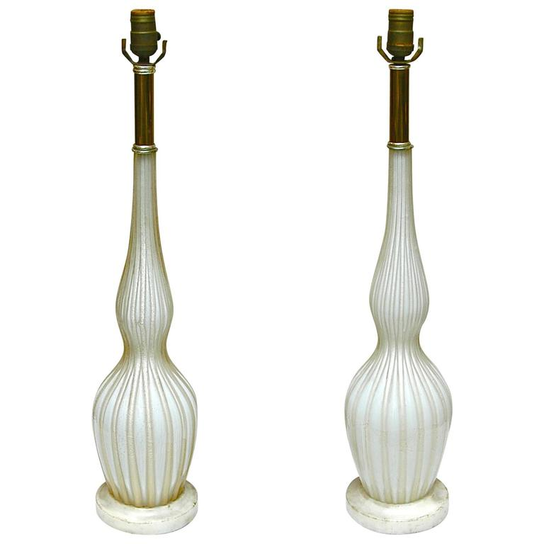italian murano glass table lamps for sale at 1stdibs. Black Bedroom Furniture Sets. Home Design Ideas