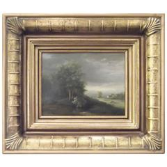 Diminutive 19th Century Oil On Board, Artist Signed