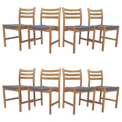 Set of Eight Danish Dining Chairs by Poul Volther for Soro Stolefabrik