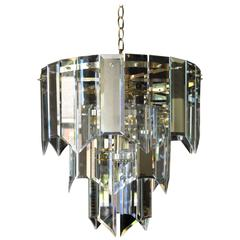 Mirror and Glass Waterfall Chandelier