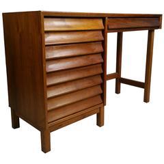 "Midcentury Modern Desk,""Wonderwood"" American of Martinsville"