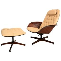 Plycraft Mr Chair and Ottoman by George Mulhauser