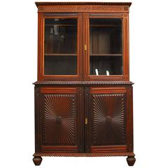 British Colonial Library Bookcase Cabinet