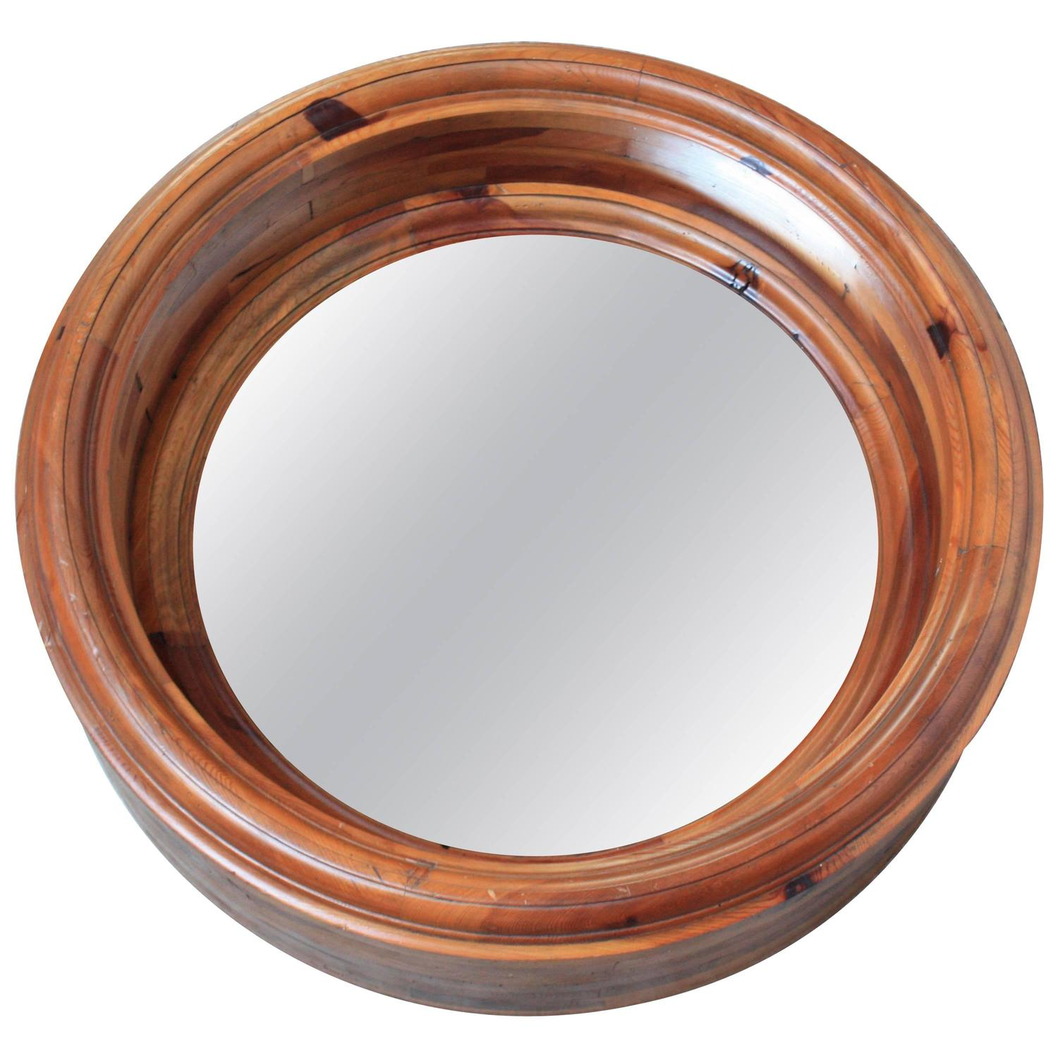 Large wooden porthole mirror by ralph lauren for sale at Large wooden mirrors for sale