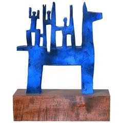 Polychromed Ceramic Sculpture by Jordi Casamajor