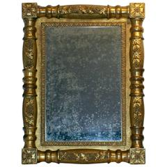 American Carved and Gilded Looking Glass, circa 1830