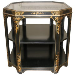 Lacquered Three-Tiered Table