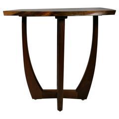 Modernist Free-Edge Table, Figured Walnut, Griff Logan