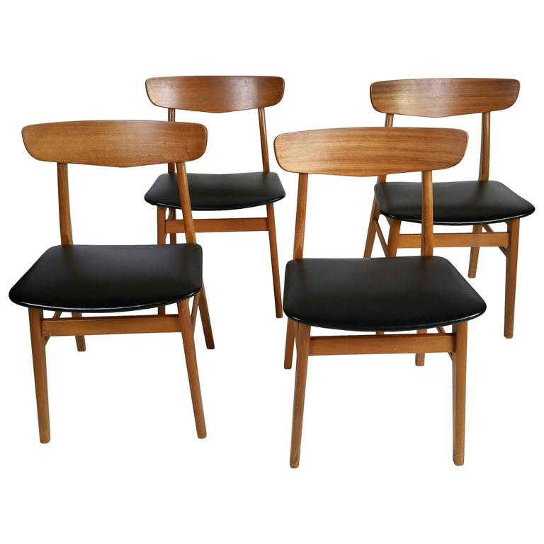 this set of four danish modern dining chairs is no longer available