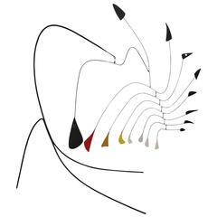 """Rare Modernist Standing Mobile, Manner of Alexander Calder """"Little Spider"""""""
