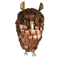 Monumental Brutalist Owl, Mid-Century Modern, Italy