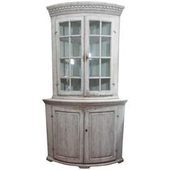 19th Century Swedish Corner Cabinet