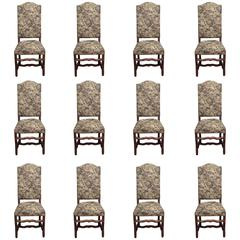 Set of Twelve Mouton Dining Chairs