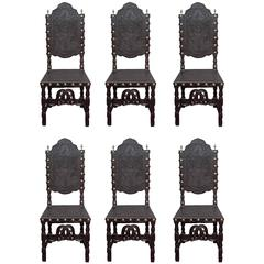 Set of Six Spanish Chairs