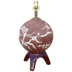 Ceramic Spherical Table Lamp with Dancing Figures by Tye of California