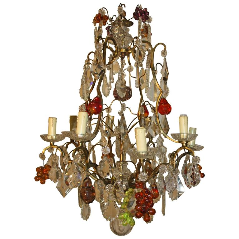 Charming French Chandelier and Crystal