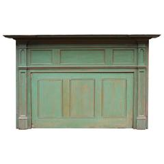 Early 19th Century New England Painted Mantel and Summer Cover