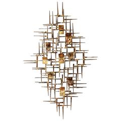 Contemporary Curtis Jere Style Wall Sculpture