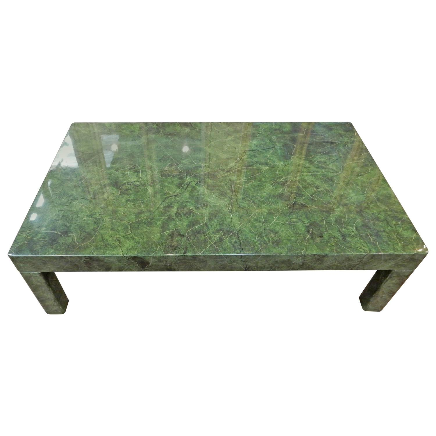 1970 italian coffee table malachite style at 1stdibs Tuscan style coffee table
