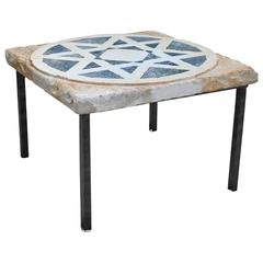 19th Century Istrian Mosaic Marble Side Table