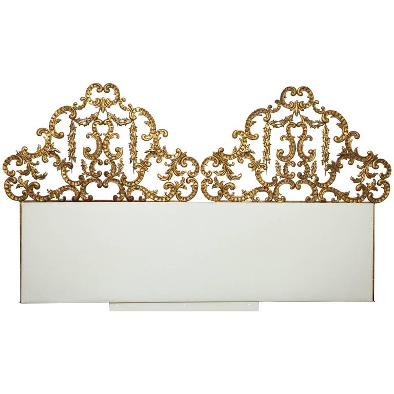 Gilt wall mounted king bed headboard for sale at 1stdibs Wall mounted queen headboard