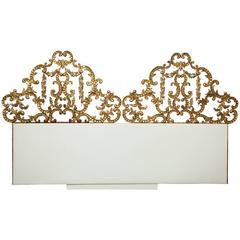 Gilt Wall-Mounted King Bed Headboard