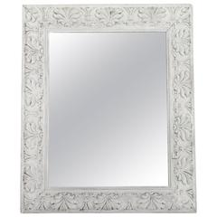 Empire Style Distressed Pale Grey Frame with Antique Mirror
