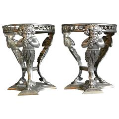 Pair of Italian Silver Salts with Bachii