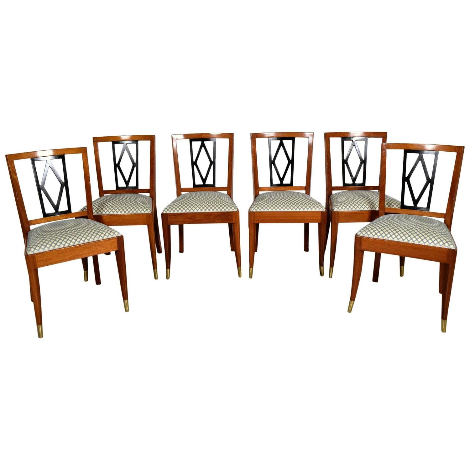 Set Of Six Regency Style Dining Chairs At 1stdibs