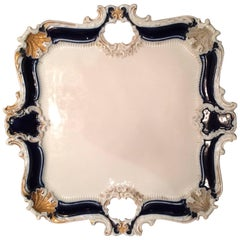 Square Porcelain Meissen Platter or Tray