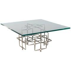 Brutalist Steel Masonry Nail Coffee Table