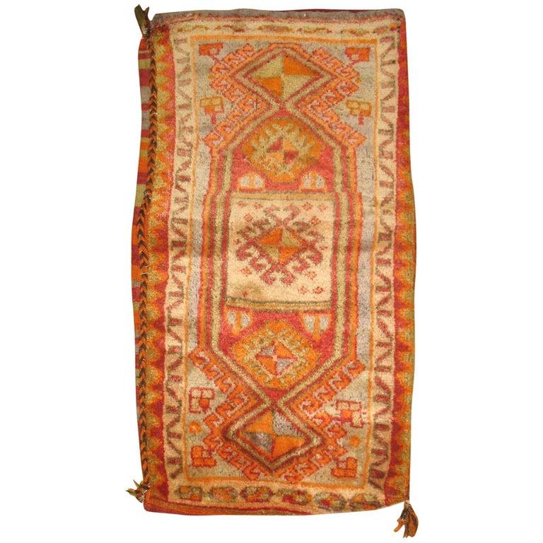 Turkish Yastik Rug: Turkish Yastik Pillow Textile Rug Bag For Sale At 1stdibs