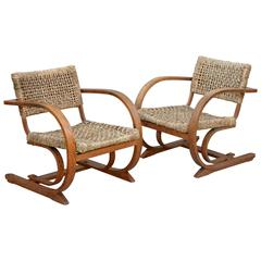 Pair of Rope Chair by Audoux-Minet for Vibo Vesoul