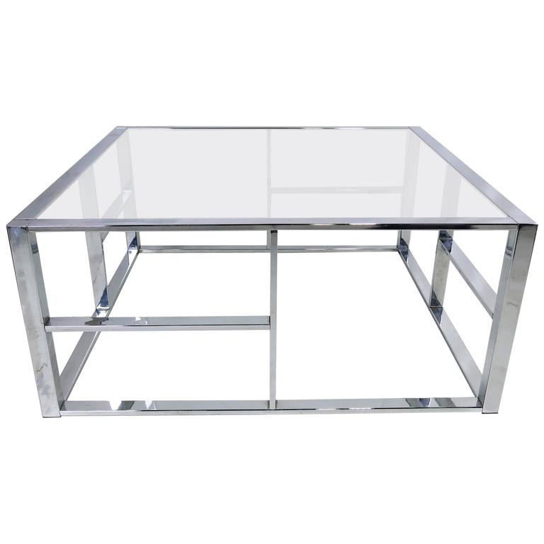 Architectural chrome modernist coffee table for sale at for Architectural coffee table