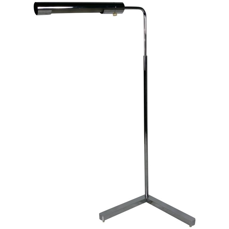 Long cylinder form shade floor reading lamp by casella for for Floor lamp with cylinder shade