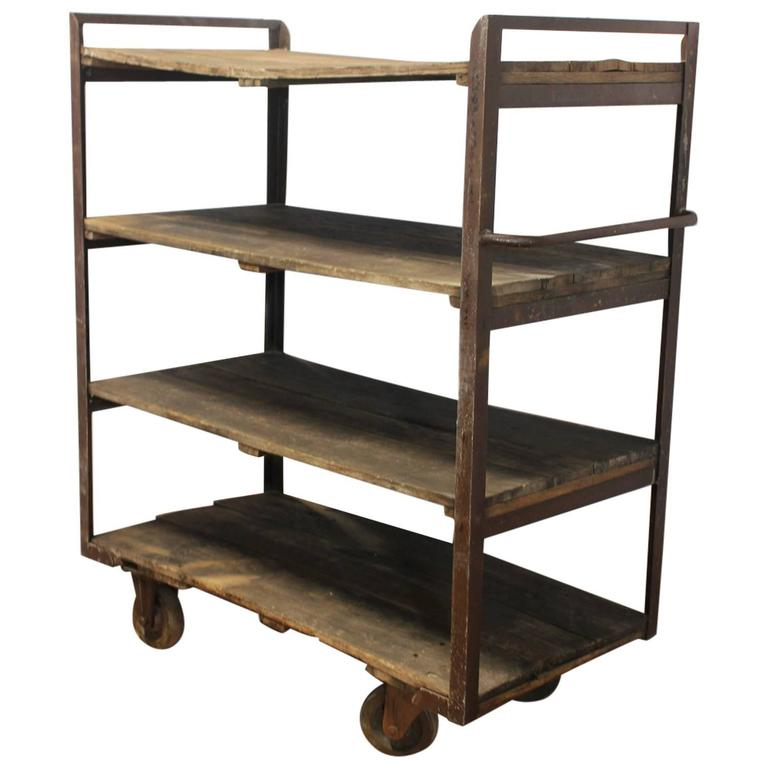 Antique Industrial Shelves For Sale